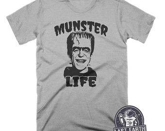 44a49d1d9417 Munster Life TShirt Frankenstein Shirt Vintage T Shirt Herman Munster Shirt  Horror Movie T Shirt Halloween Shirt Funny Tshirts Mens Tshirts