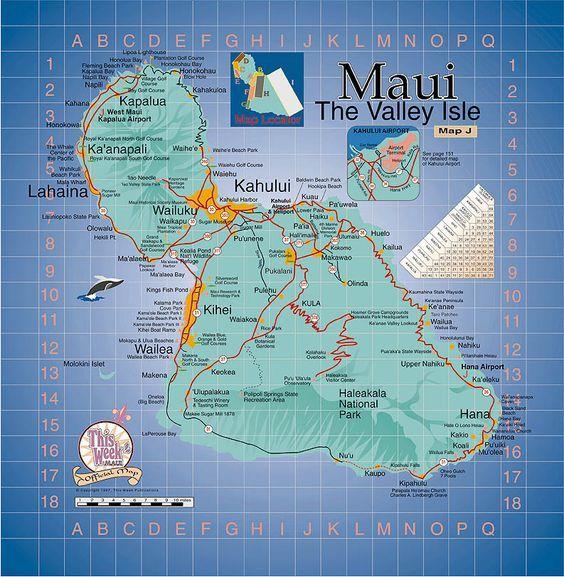 map of maui Bing viaggi