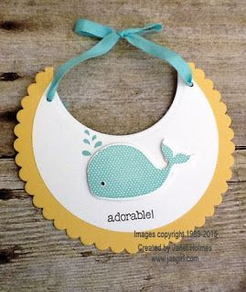 Jan Girl: Stampin' Up Oh Whale baby thank you cards