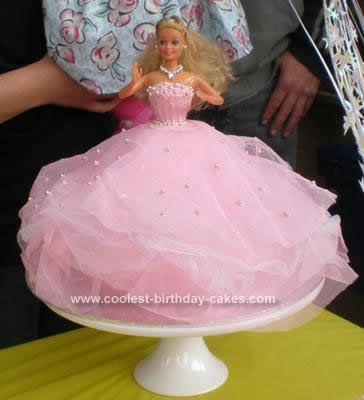 Coolest Barbie Doll Birthday Cake Idea Piping icing Birthday