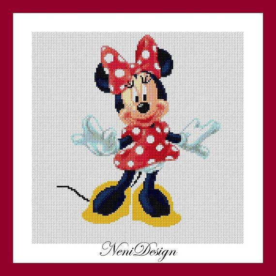 Minnie mouse, cross stitch disney, cross stitch Minnie, disney ...