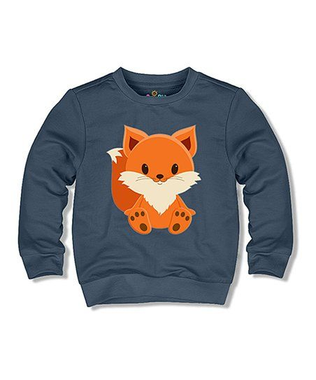 Sunshine Peppy Navy Fox Sweatshirt - Toddler & Kids | zulily | Baby ...