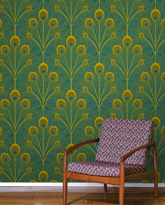 Peacock Feathers Wallpaper Tiles DesignYourWall