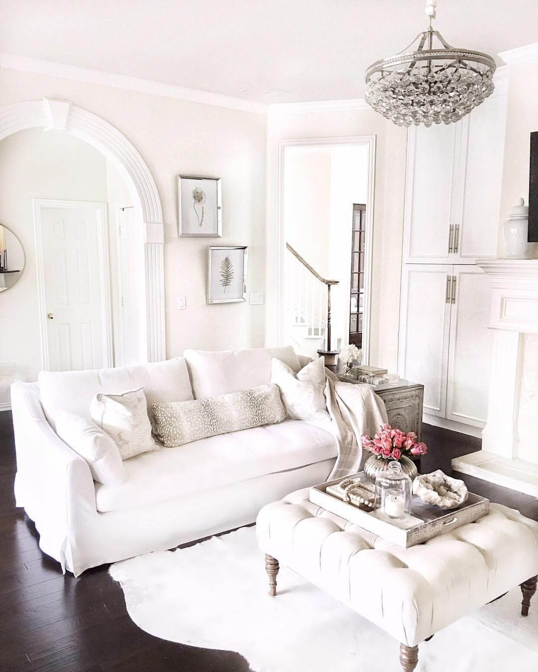 My Living Room On A Budget White Sofa Farlov Ikea Sofa Ikea Sofa Crystal Chandelier Decorating W Glam Living Room Living Room White White Sofa Living Room