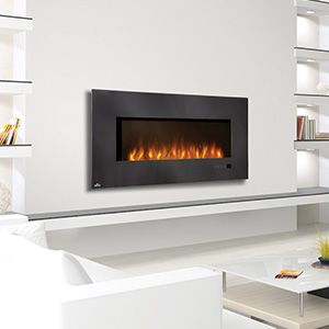 "Wall Hanging Electric Fireplace napoleon 48"" linear wall mount electric fireplace efl48h at"