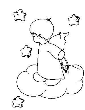 Dibujos y Plantillas para imprimir: Angelitos  Dibujo ...