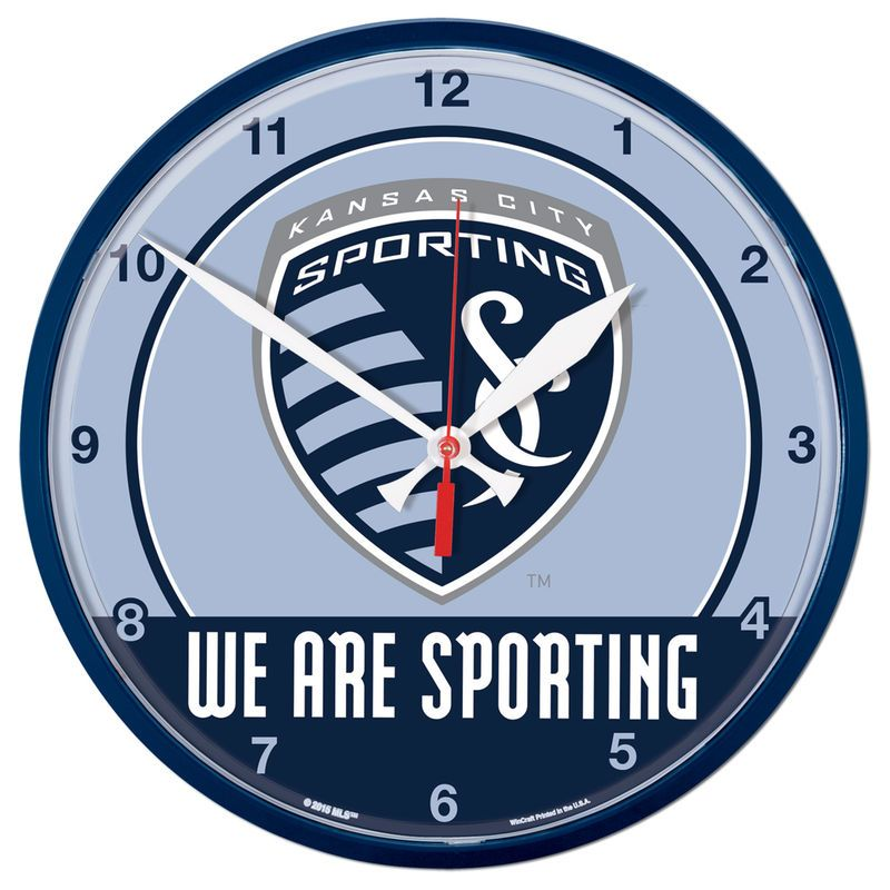Sporting Kansas City Wincraft 12 75 Round Wall Clock Sporting