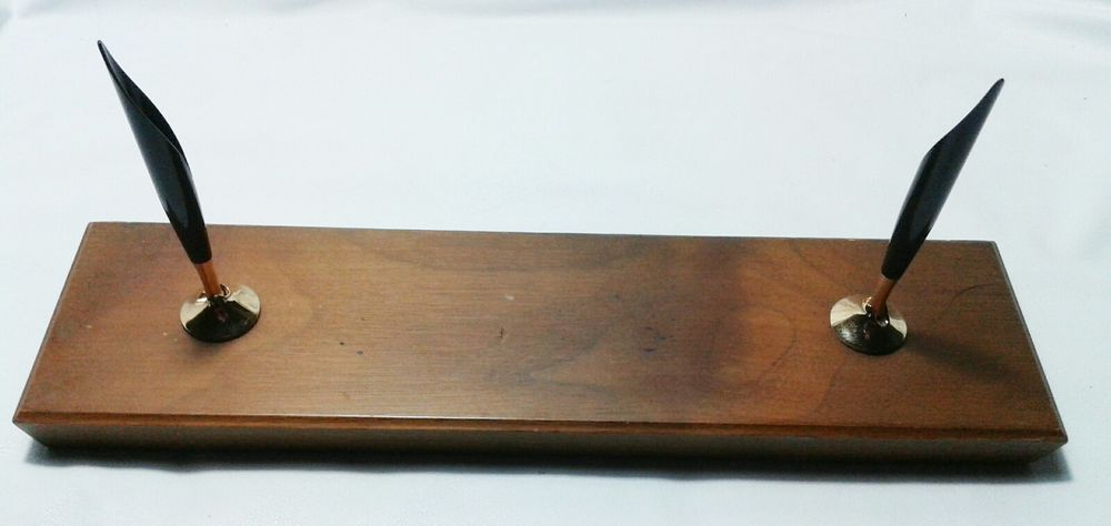 Cross Hardwood Double Desk Set Base With Pen Holders Crosssince1846