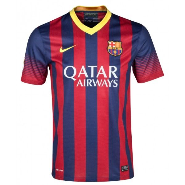 Camiseta FC Barcelona 2013 2014 Primera equipación qatar airways ... dc622e43ff055