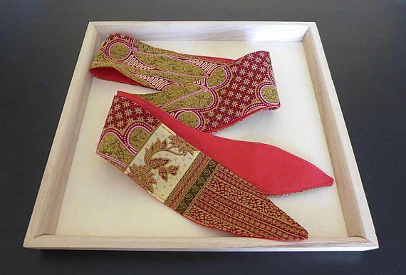 Ceinture à nouer ethnique tissu wax africain bordeaux rouge - accessoire  mode ethnique chic - Une 9bca61f7188