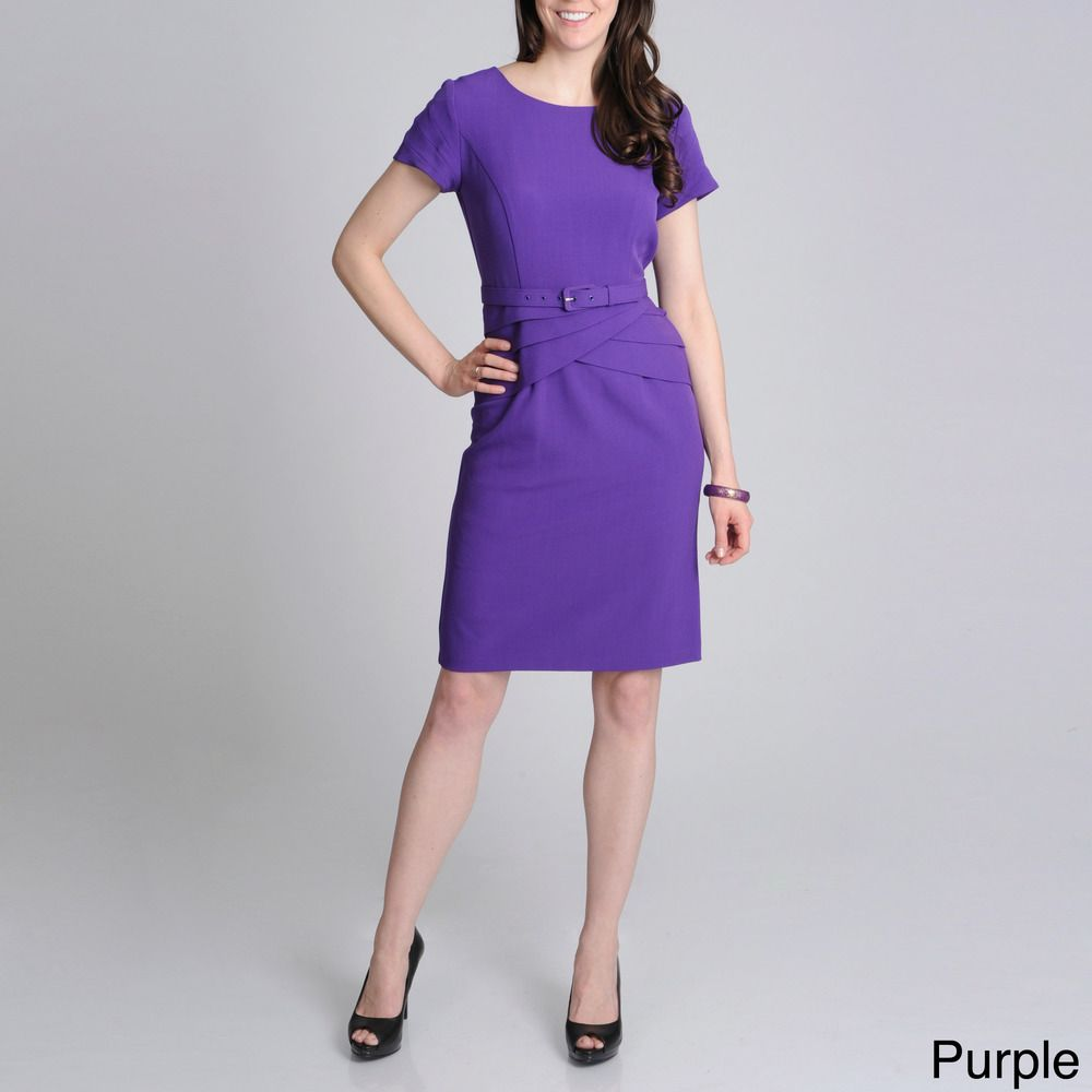 R u m richards womenus belted fashion dress overstock shopping