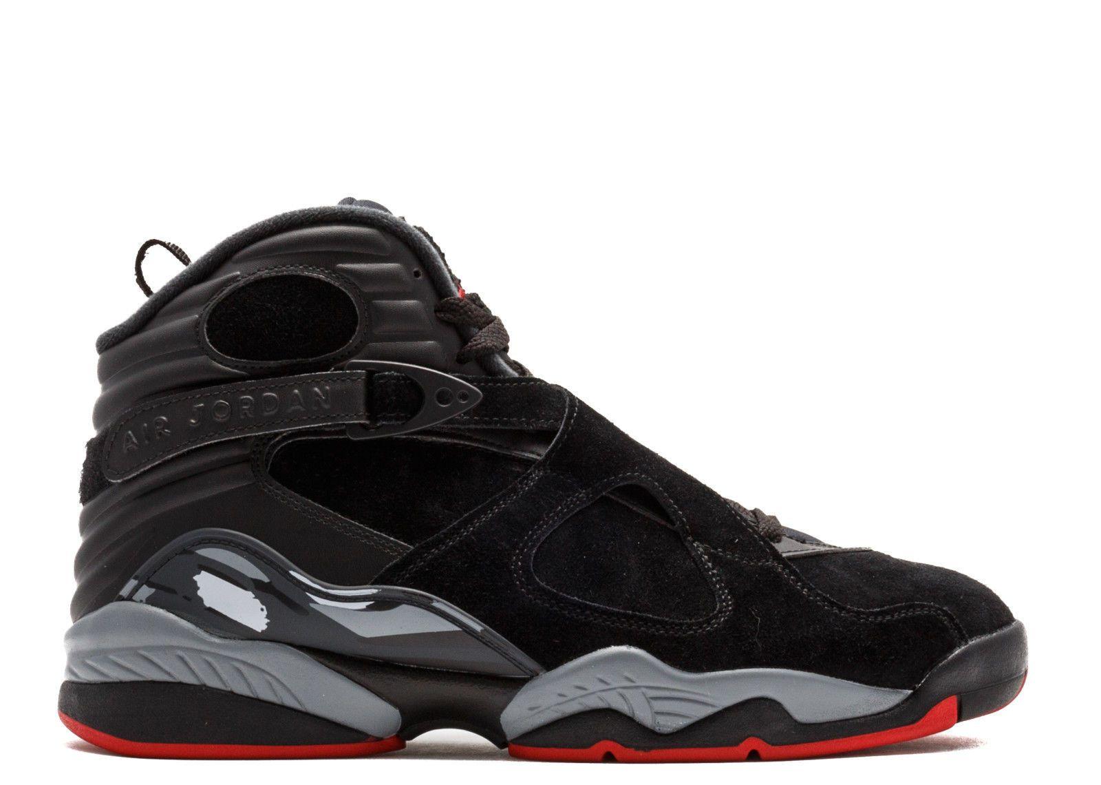 76a32200dc86 Nike Air Jordan 8 VIII Retro BRED Black Red 305381-022 Black Cement Size 8