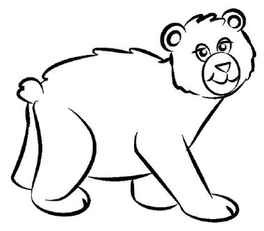 image result for bear line drawing