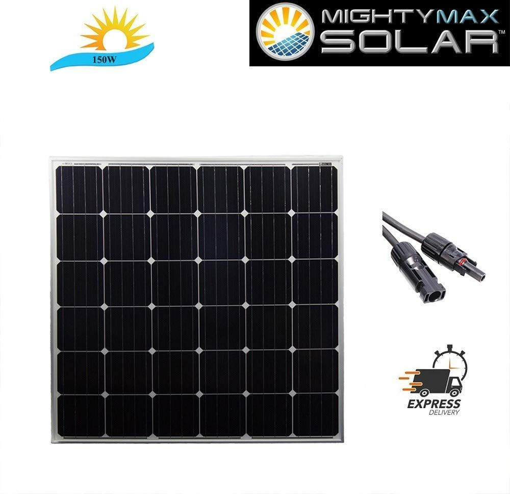 Mighty Max Battery 150 Watt 12 Volt Monocrystalline Off Grid Solar Panel Brand Product Off Grid Solar Panels Solar Panels Best Solar Panels