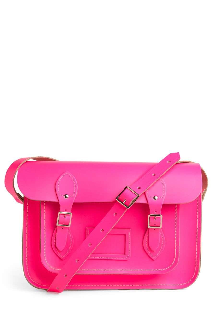 cf90455afe Love the ModCloth Cambridge Satchel Upwardly Mobile Satchel in Neon Pink -  13