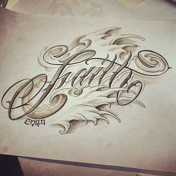 Tattoo script lettering pinterest