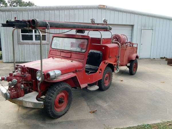 1949 Cj3a Firejeep Bentonville Ar92 Willys Jeep Willys Jeep