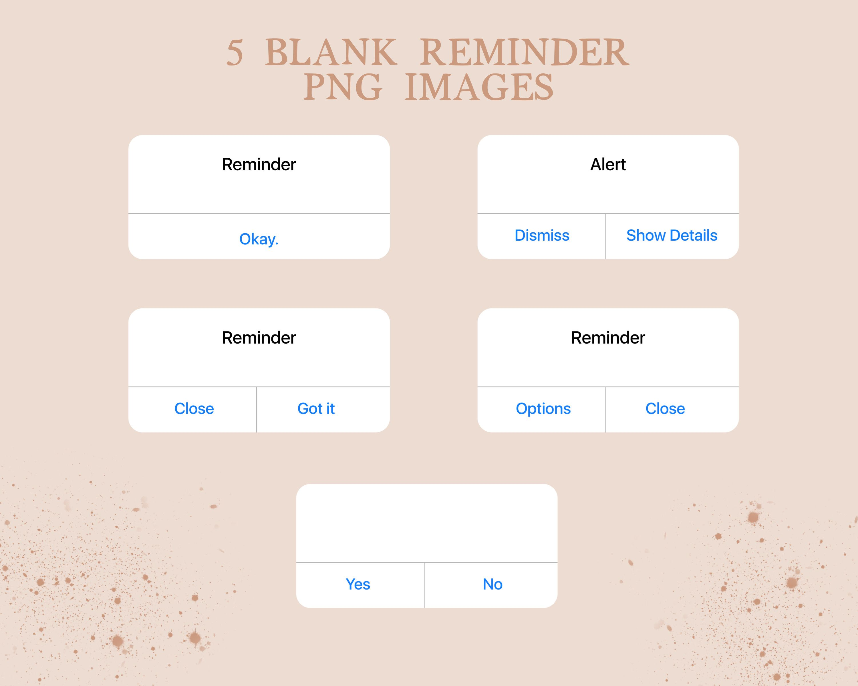 5 Blank iPhone Reminder PNG Stickers Instagram Story  Etsy in