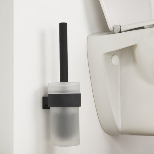Symple Stuff Wall Mounted Toilet Brush And Holder Toilet Brushes Holders Wall Mounted Toilet Toilet Brush