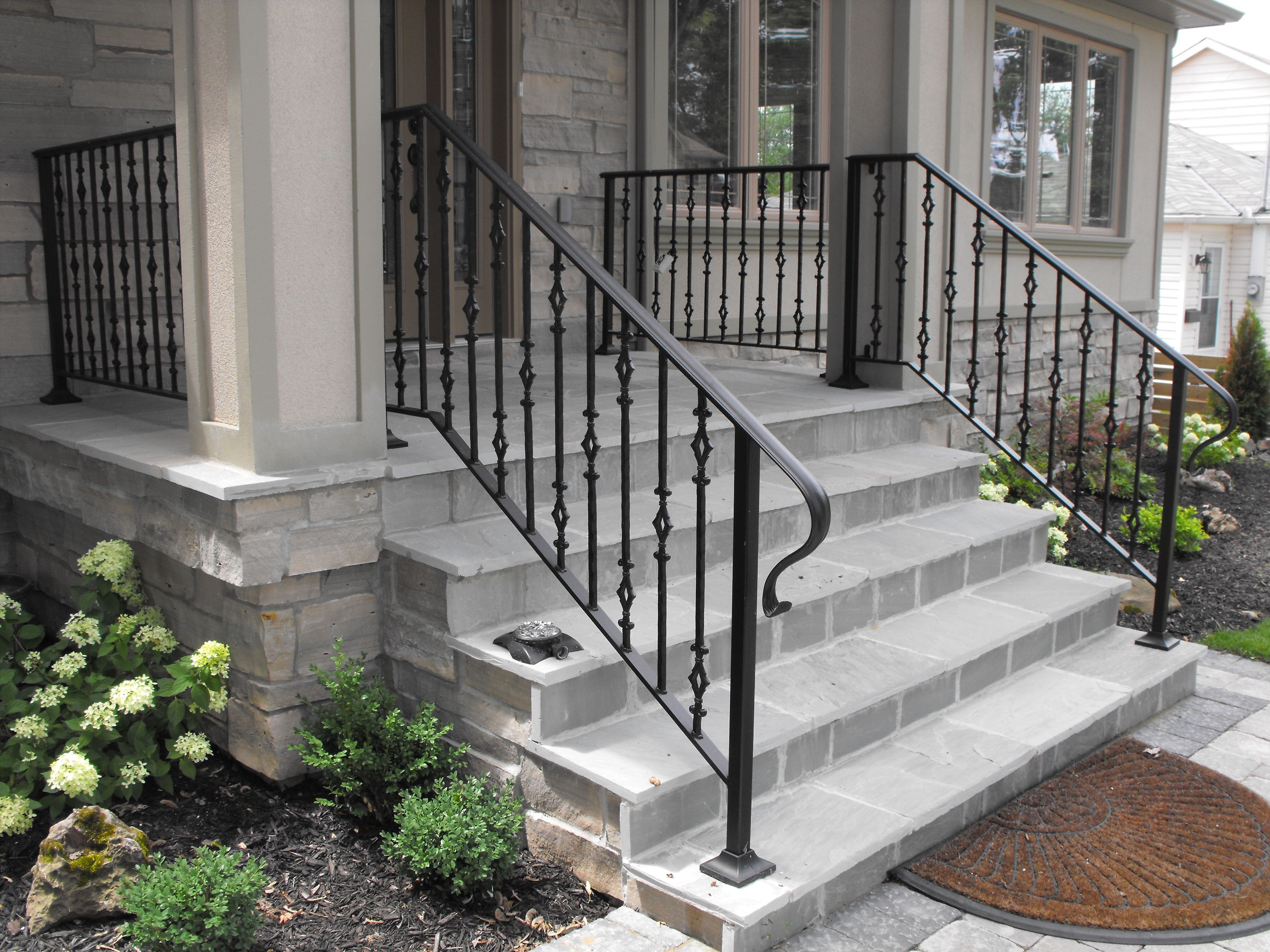 Front Entrance Railing Front Entrance Stair Rail Wrought Iron Porch Railings Railings | Wrought Iron Railings For Outside Steps