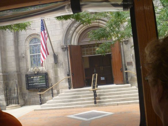 Historic Old Stone Church Entrance