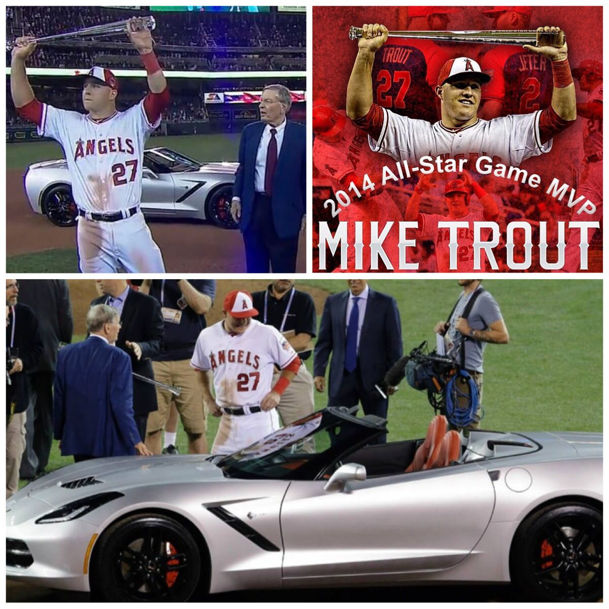 I Love How He Chose The Corvette Cause His Mom Wanted It Mvp Mike Trout Angels Baseball Anaheim Angels