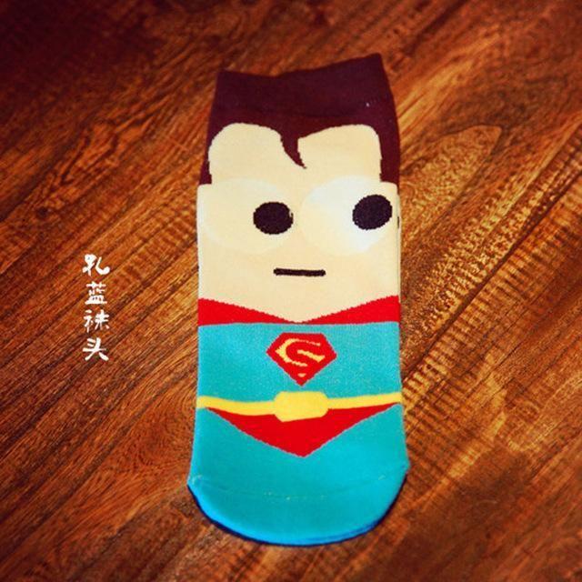 Fashion Mens Socks Creative Cartoon Mask Superman Sock Cotton Novelty Hip Hop Funny Socks Autumn Spring Calcetines Skarpety Big Clearance Sale Underwear & Sleepwears