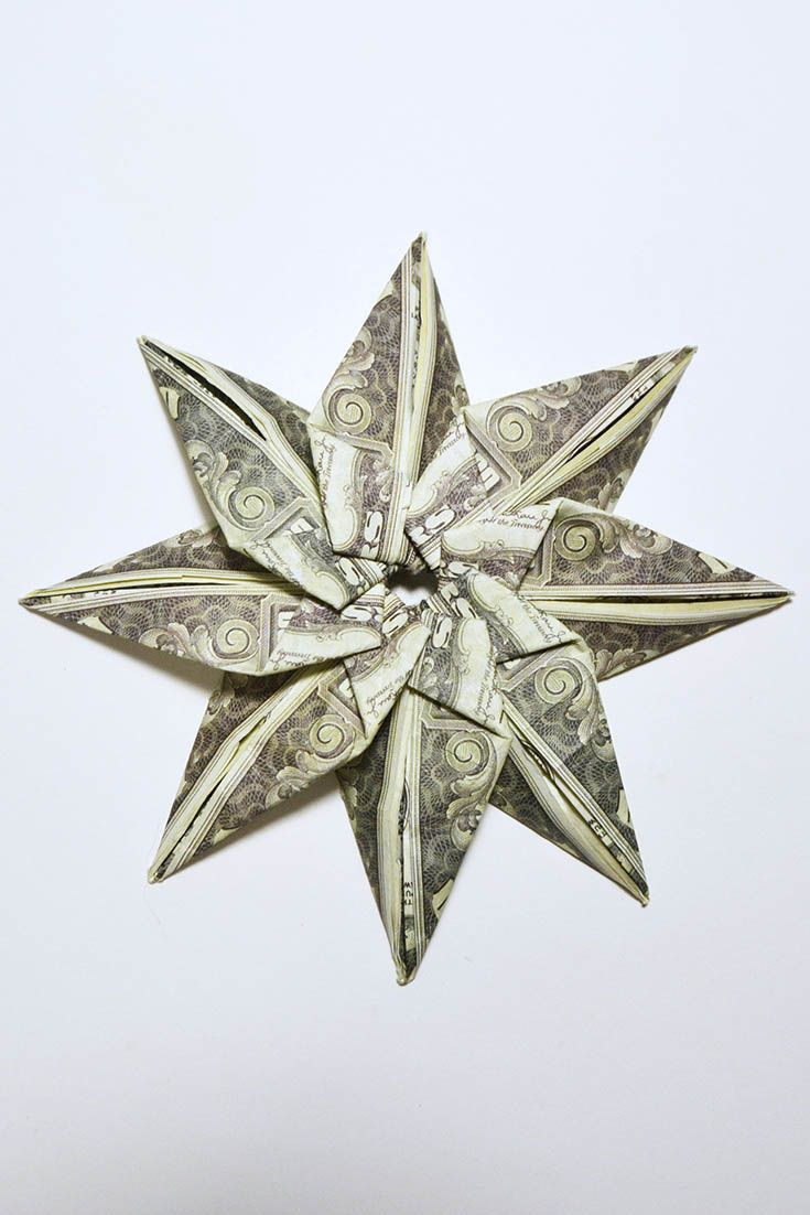 Cool Money Flower Origami Dollar Tutorial Diy Folded No Glue Cool