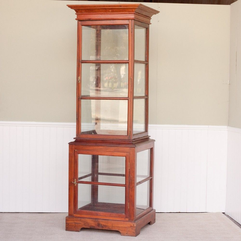 Turn of the century furniture - Jackfruit And Glass Display Cabinet From A Turn Of The Century Shop The Top Has 2 Glass Shelves And The Bottom Part Has One Glass Shelf
