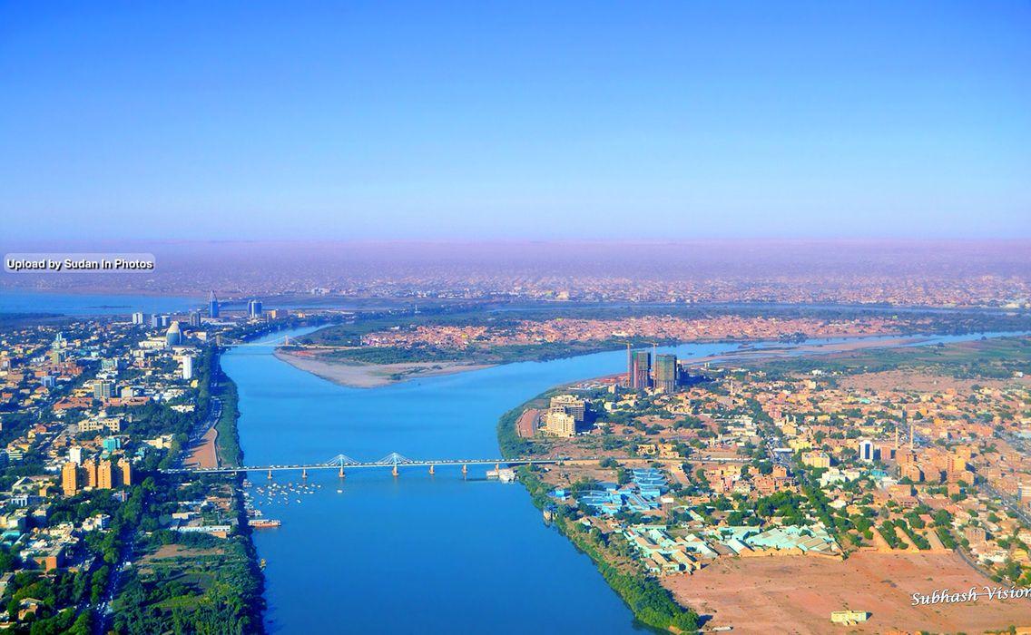 Khartoum Aerial Photo صورة من الجو للخرطوم السودان Sudan Khartoum Aerial Nile Capital Photo City Photo Aerial
