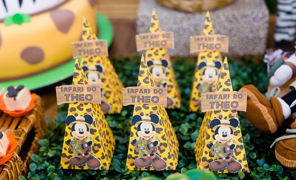 Festa Mickey - Piramides para guloseimas