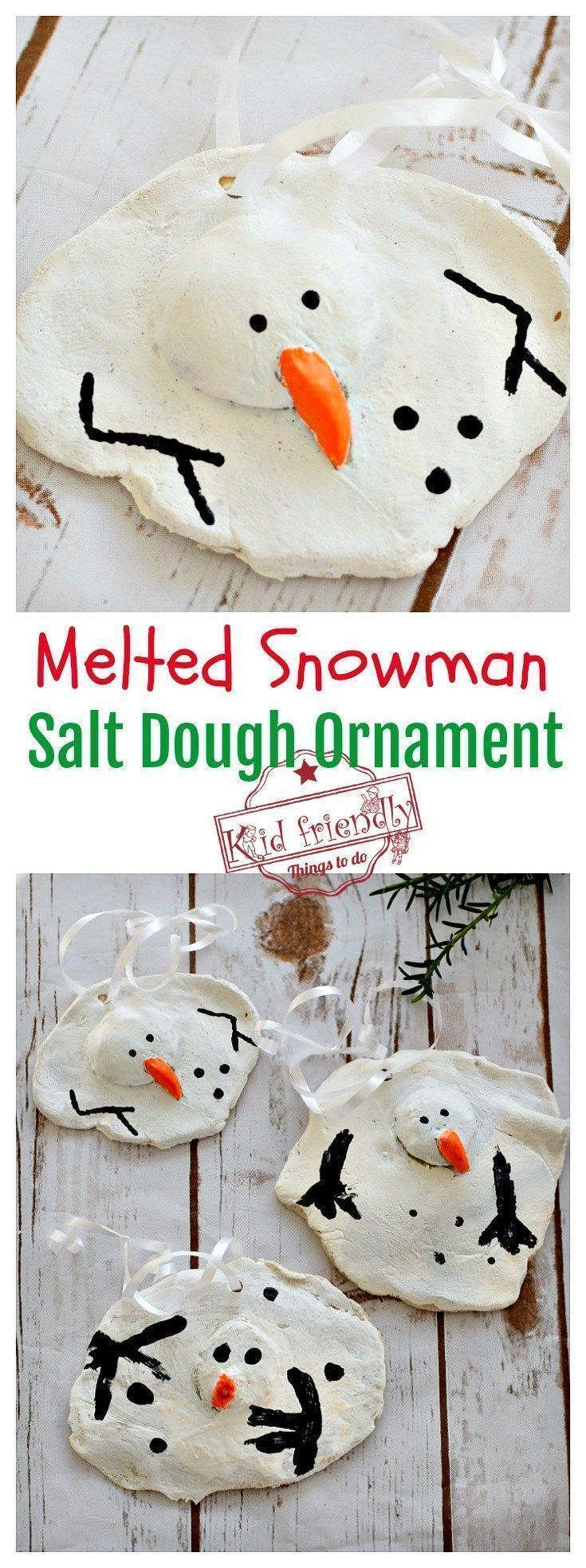 A DIY Melted Snowman and Candy Cane
