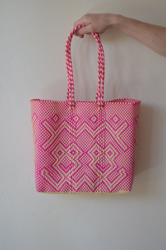 Pink Tote Mexican Bag Handmade Handbag By Otomicrafts