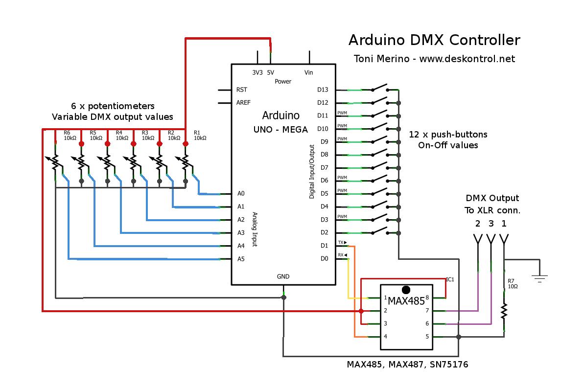 3e316a1a290cf600f4a8b5a7a83b22a3 esquema mini controlador dmx con arduino arduino y electronica Belden 9727 Wiring-Diagram DMX at fashall.co