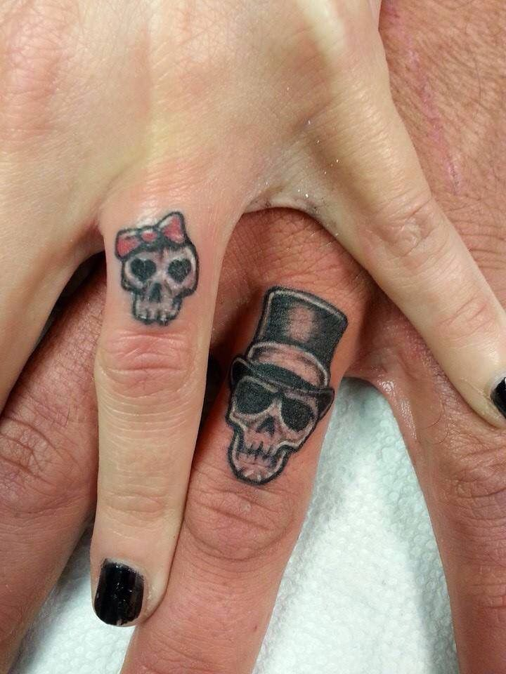 Finger Candles, Portrait & Skull Hand Tattoos