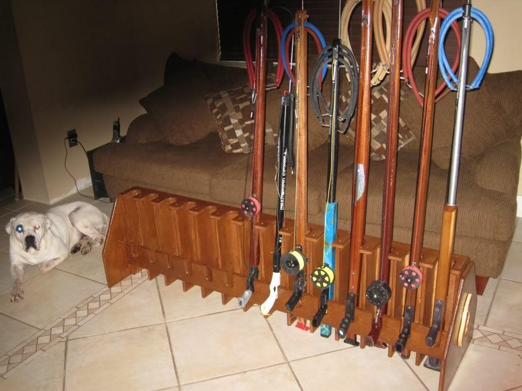 My Lastest Creations   Speargun/Rod Racks - Spearboard com
