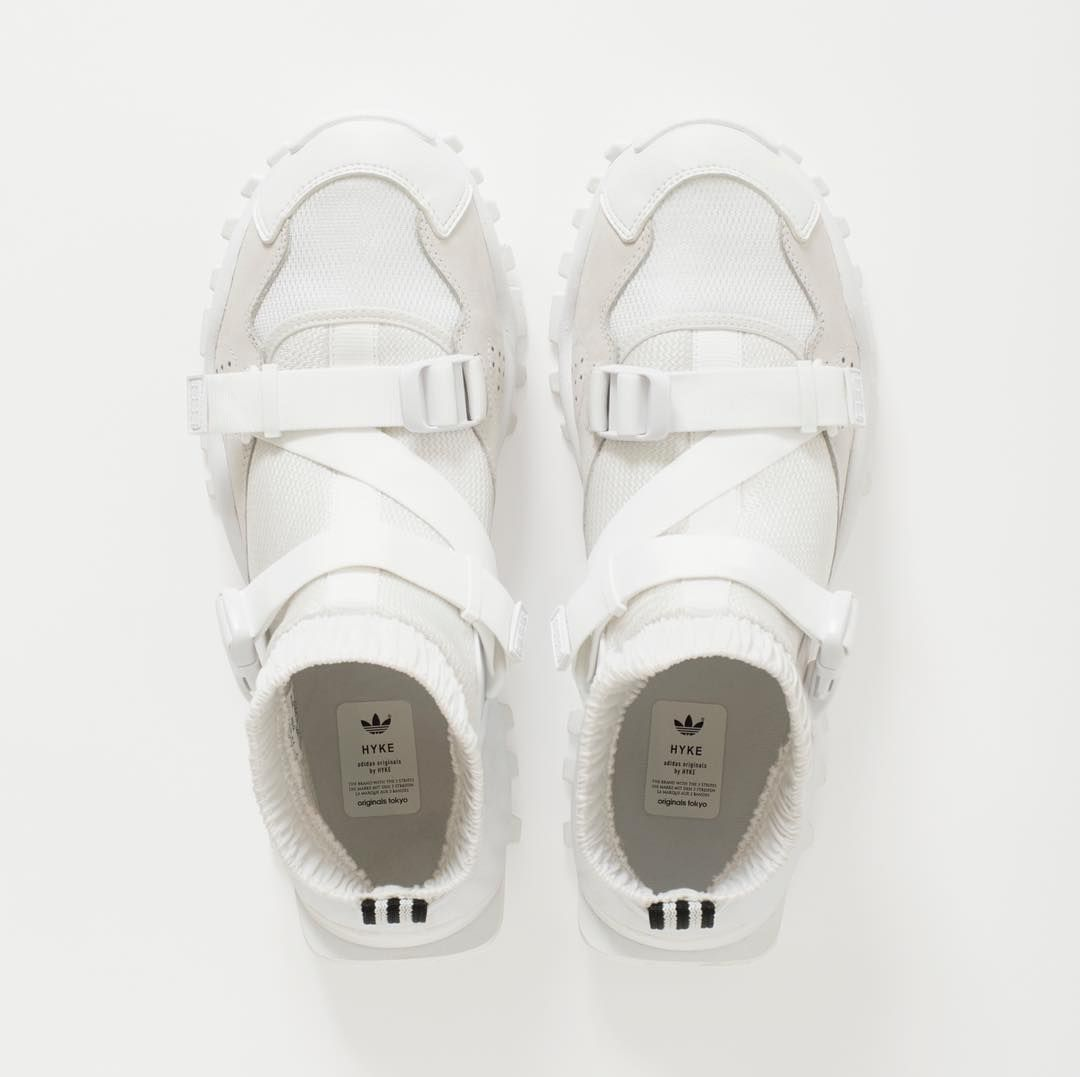 ADIDAS Originali HYKE aoh010 bianche Cinturino Scarpe da ginnastica uomo bianche aoh010 ba8358 dcff32