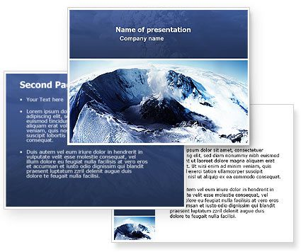 Volcanic Crater Powerpoint Template With Volcanic Crater