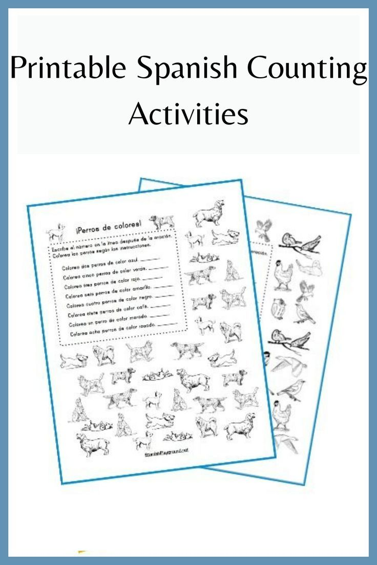 Spanish counting activities teach numbers and are also useful for teaching other vocabulary. I made these printable Spanish counting activities for beginning readers to reinforce number and color words. Printable Spanish | Printable Spanish Counting Activities | Printable Spanish Counting | printable spanish flashcards | spanish flashcards for kids free printable