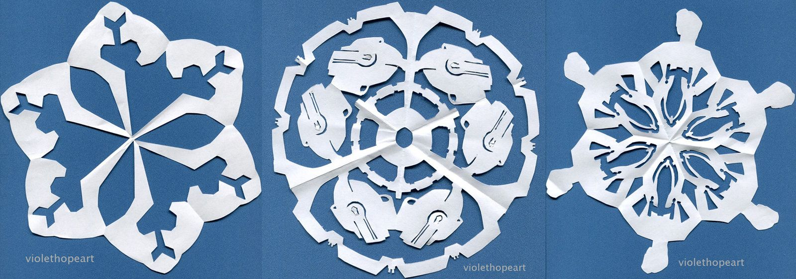 Star Trek Snowflakes By Violethopeart On Deviantart Snowflakes