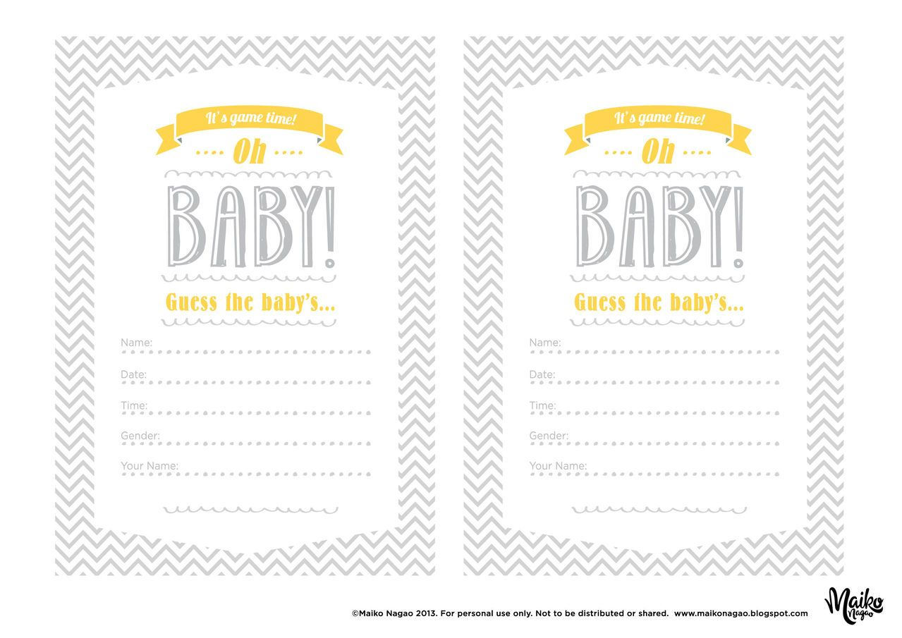 printable baby shower games pdf