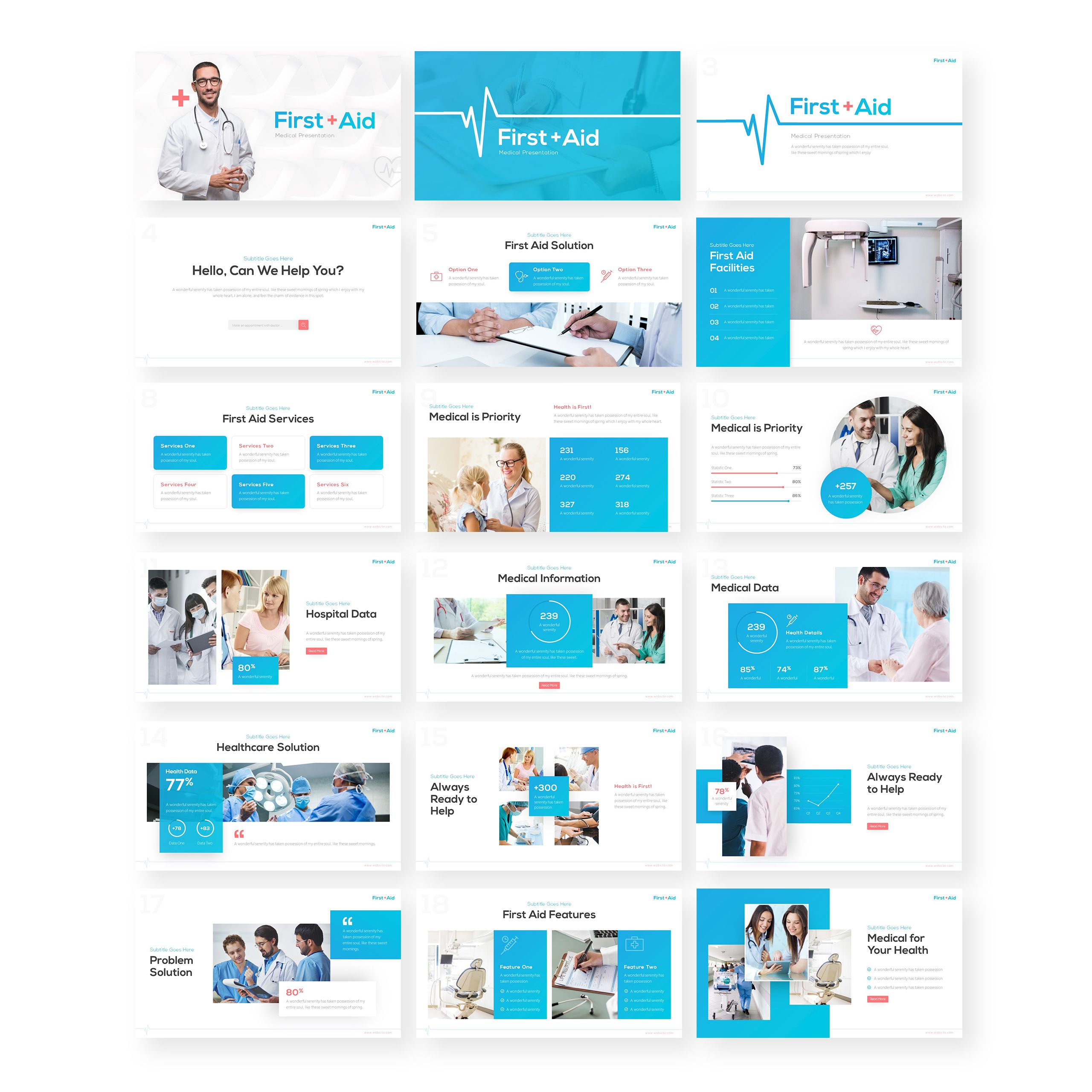 First Aid Medical Presentation Powerpoint Template 86955