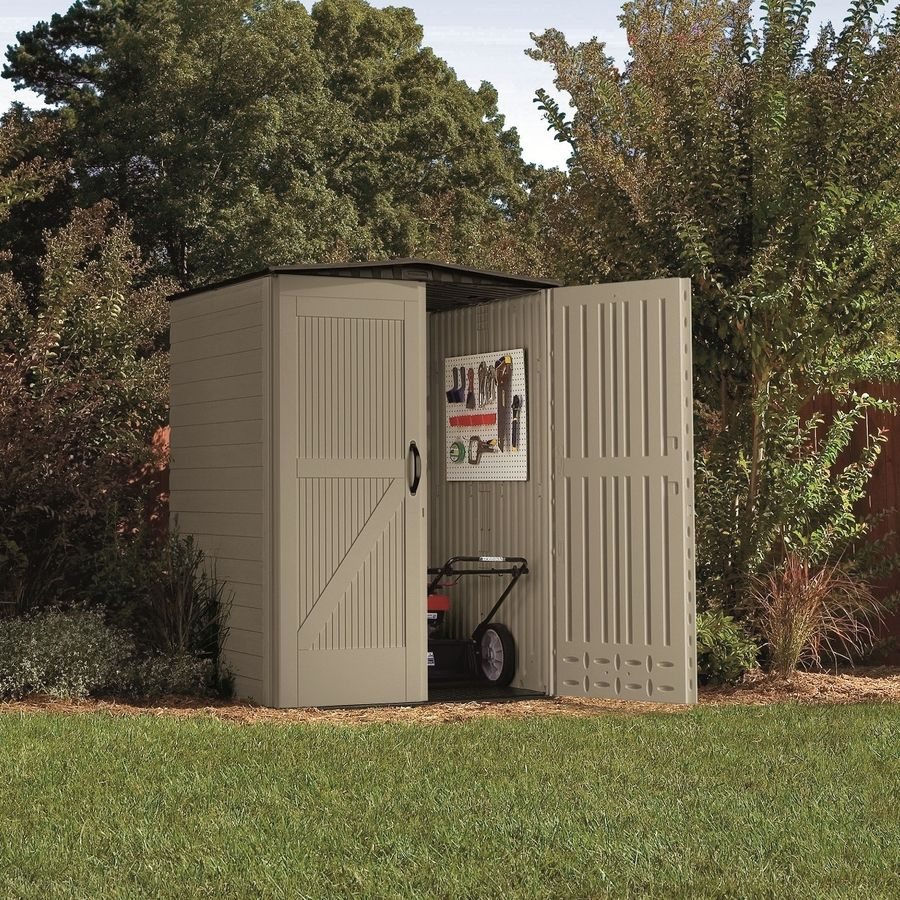 Shop Rubbermaid Roughneck Gable Storage Shed Common 5 Ft X 4 Ft