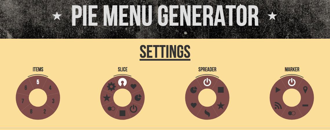 Uno strumento per generare un menù rotondo. Consigli