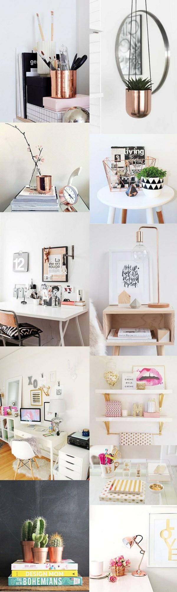 Decor cobre rose gold e dourado monica pinterest dekoration deko e ideen - Kupfer deko wohnzimmer ...