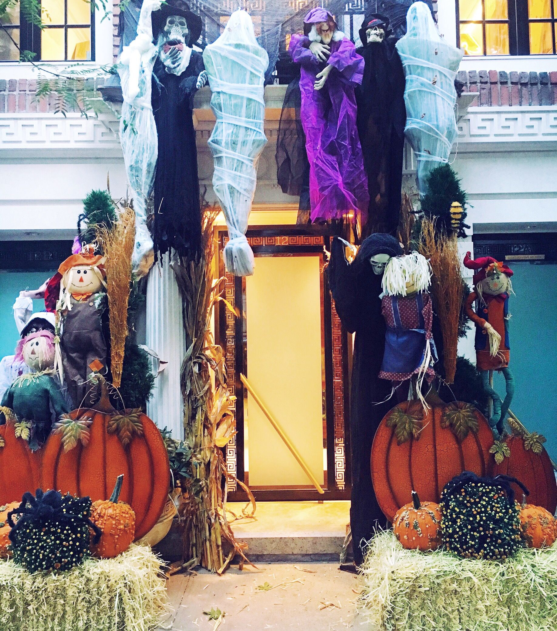 Upper East Side New York City Halloween Townhouse Decoration By