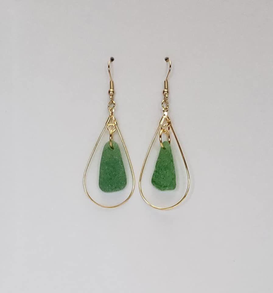hypoallergenic Mermaids and sea glass earrings