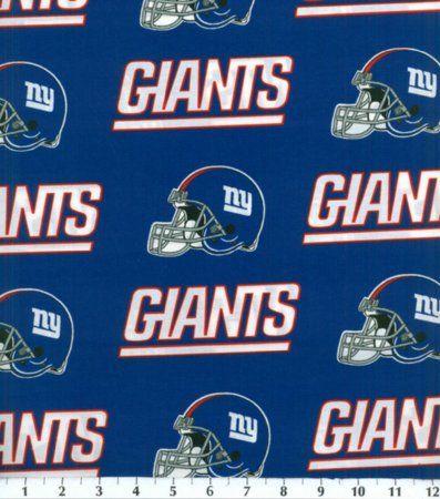 Amazon.com - Cotton NFL New York Giants Football Cotton Fabric Print By the Yard - Ny Giants Fabric
