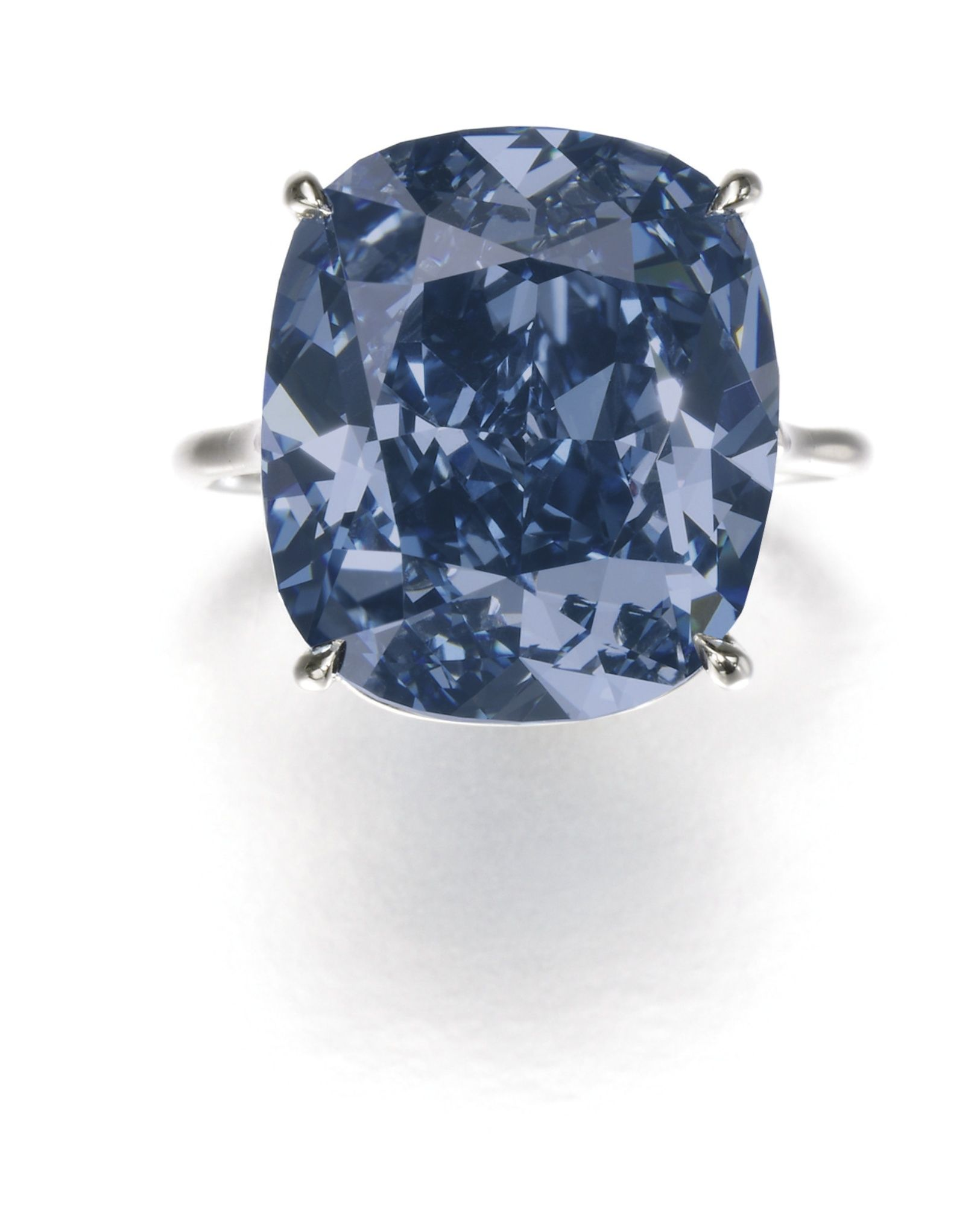 The Blue Moon An exceptional Fancy Vivid Blue diamond ring