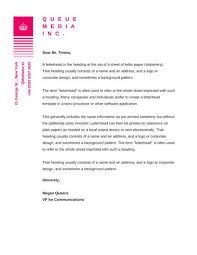 examples of company letterhead